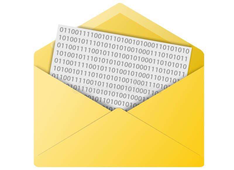 Email Envelope Button stock photos