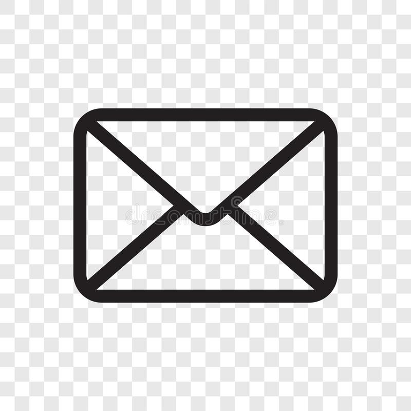 Free Email Envelope Icon. Vector Mail Message Symbol Isolated On Transparent Background Royalty Free Stock Photography - 126372737