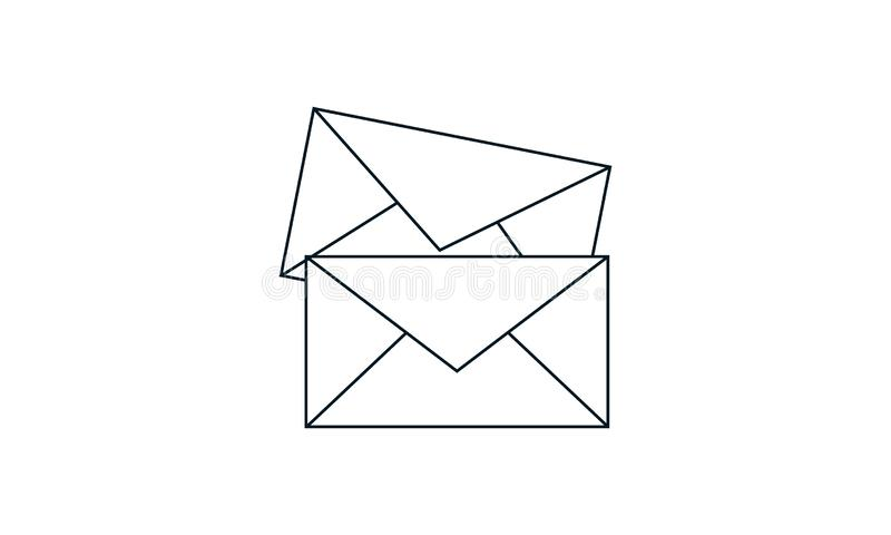 Email, envelope, letter, mail icon .Flat vector design. Email, envelope, letter, mail icon vector illustration. Flat style graphical symbol. can be used for web vector illustration