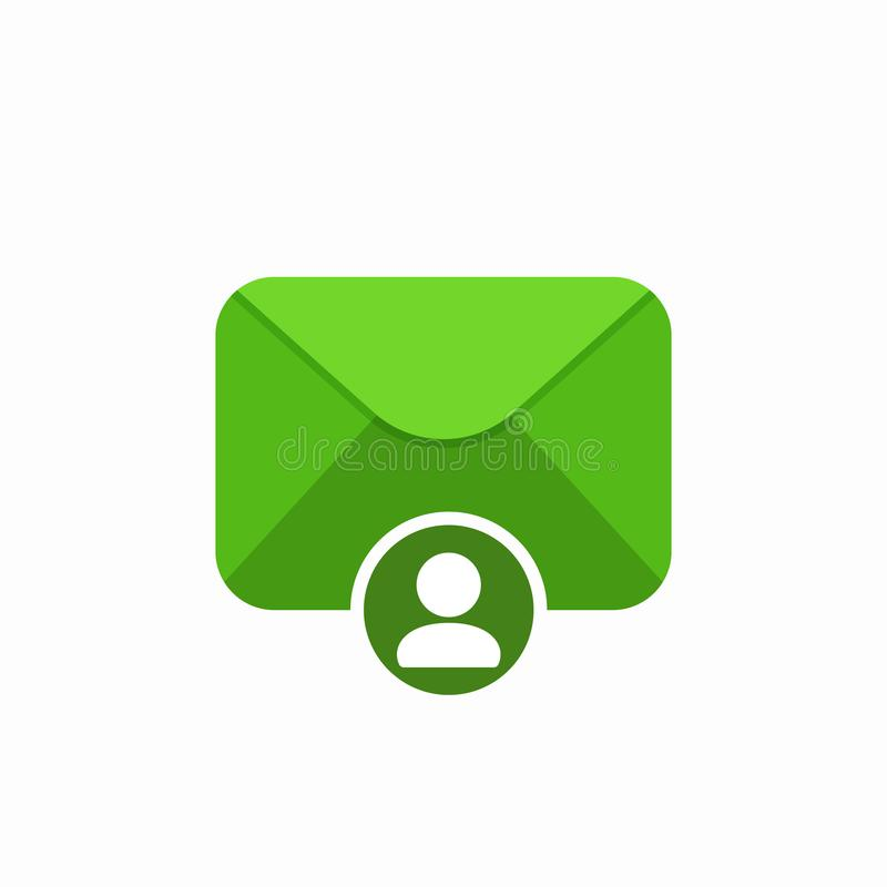 Email envelope mail message personal user icon stock illustration