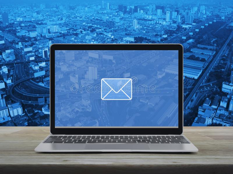Email flat icon, Business contact us online concept stock photos