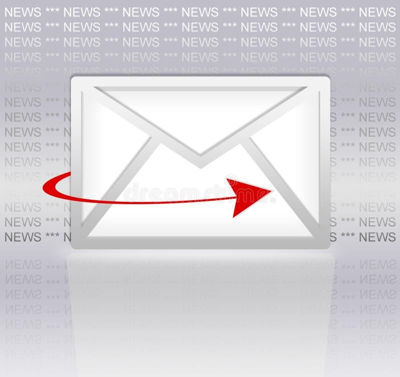 email gazetka royalty ilustracja
