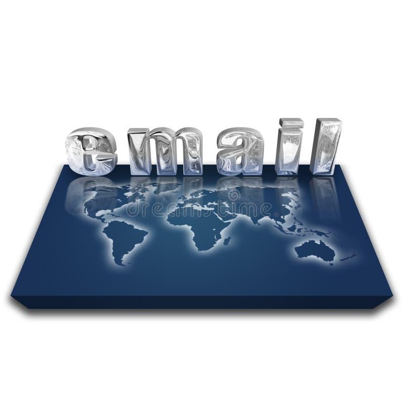 Email globale illustrazione di stock