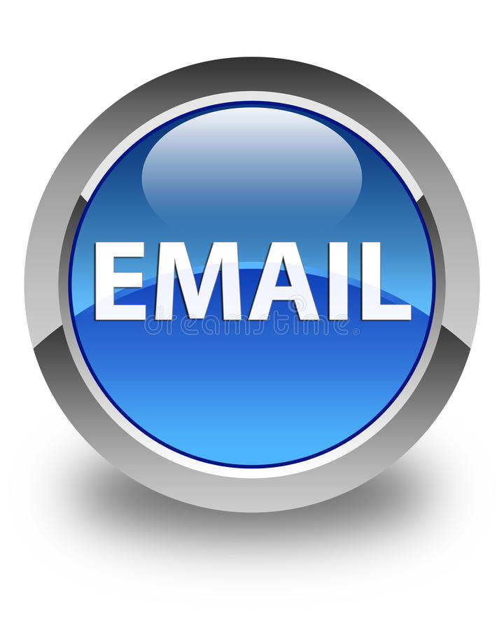 Email glossy blue round button. Email isolated on glossy blue round button abstract illustration stock illustration