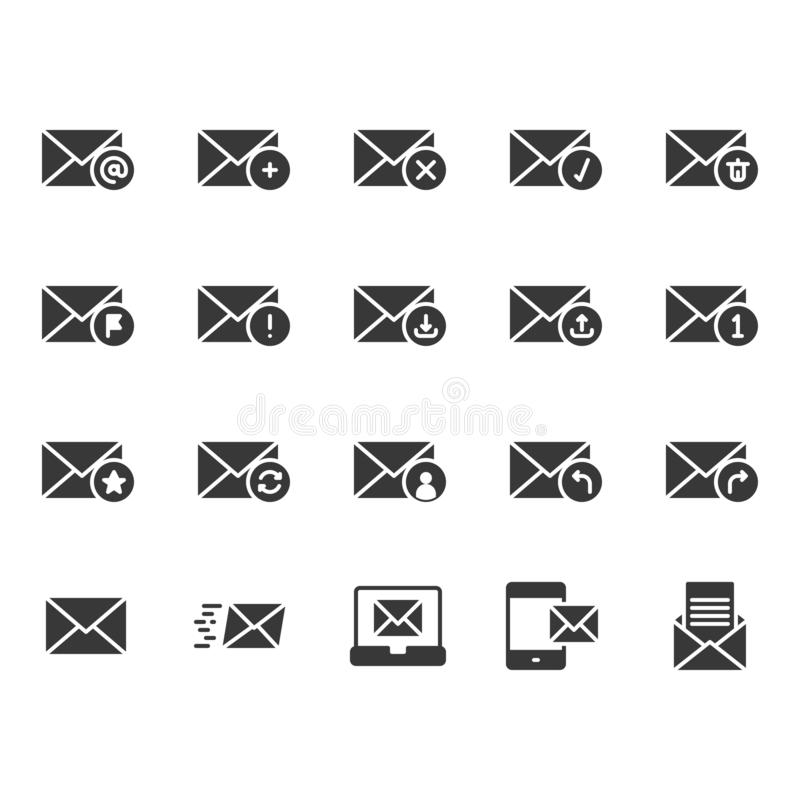 Email in glyph icon set vector illustration