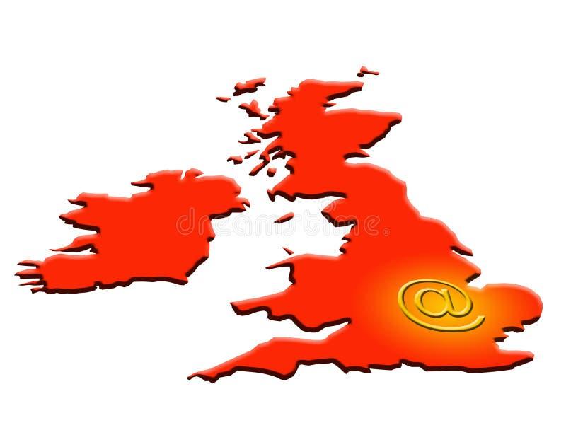 EMail Großbritannien lizenzfreie abbildung