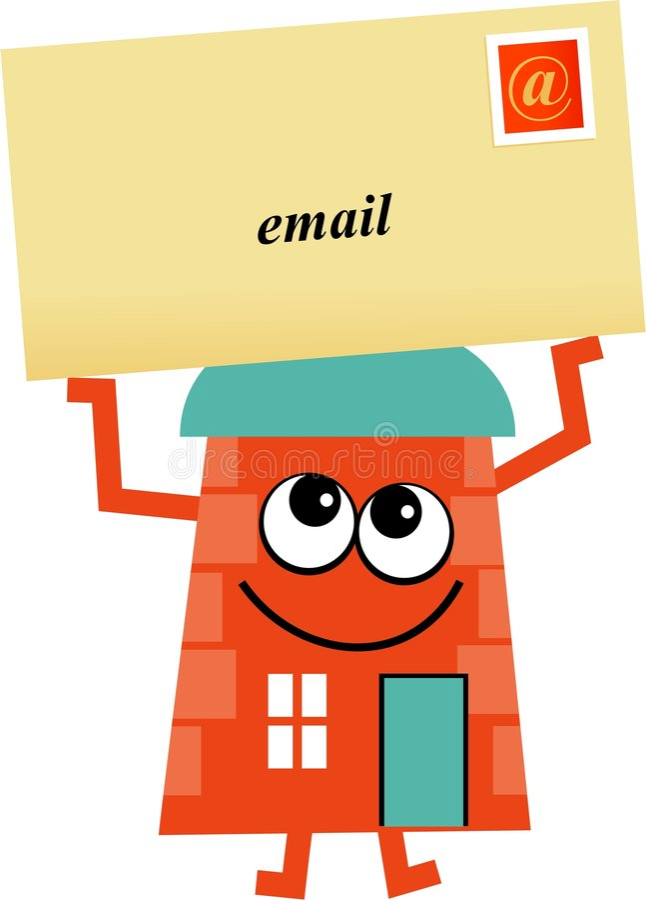 EMail-Haus lizenzfreie abbildung