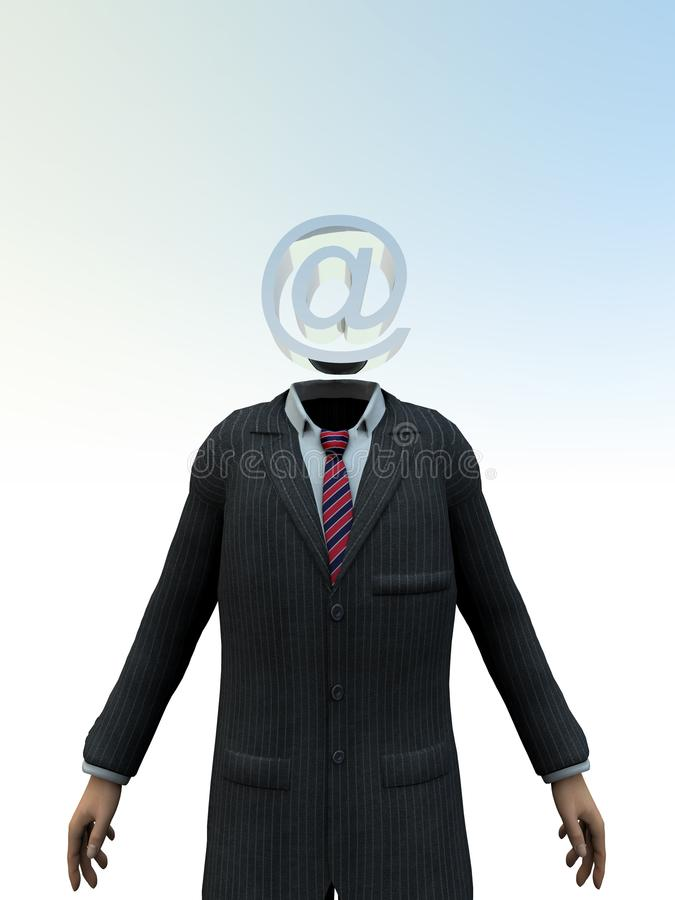 Email Head 9 stock photo
