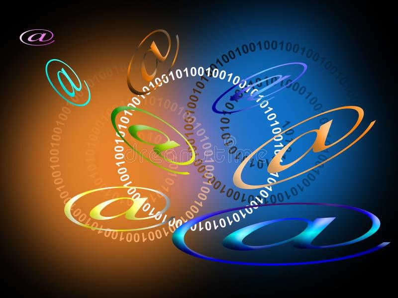 EMail-Hintergrund lizenzfreie abbildung