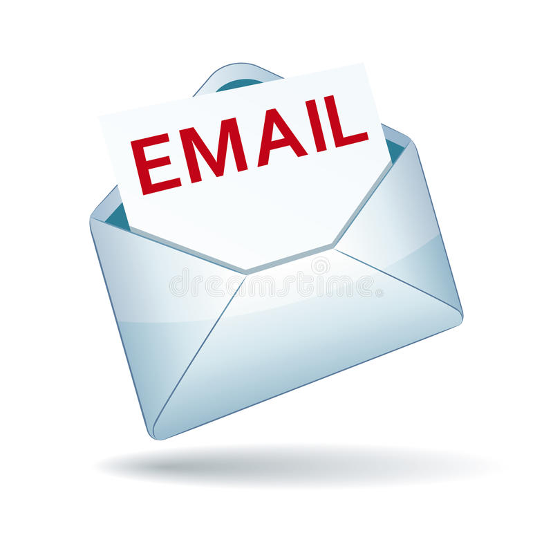 Email Icon. On isolated background
