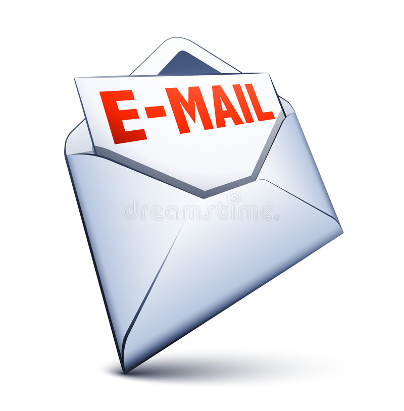Email icon. Isolated on white