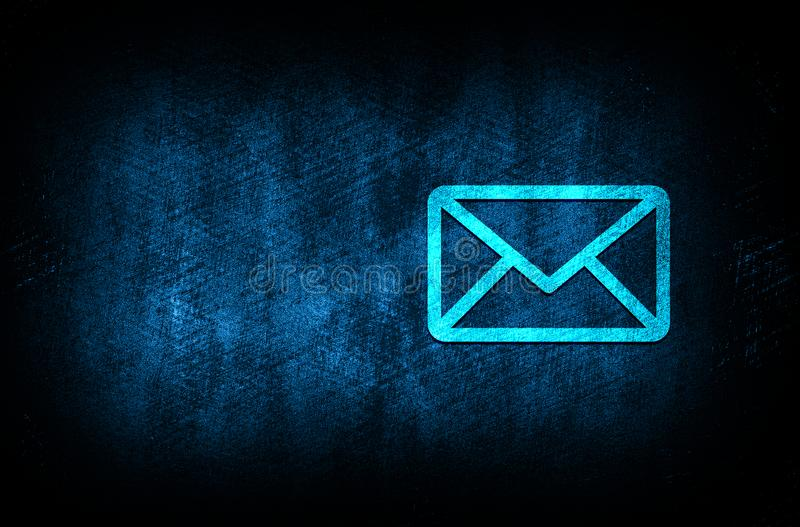 Email icon abstract blue background illustration digital texture design concept. Email icon abstract blue background illustration dark blue digital texture royalty free illustration