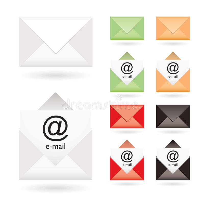 Download Email Icon Collection Stock Photo - Image: 14336740