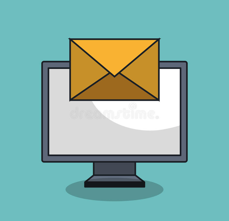 Email icon design. Illustration eps10 graphic royalty free stock images