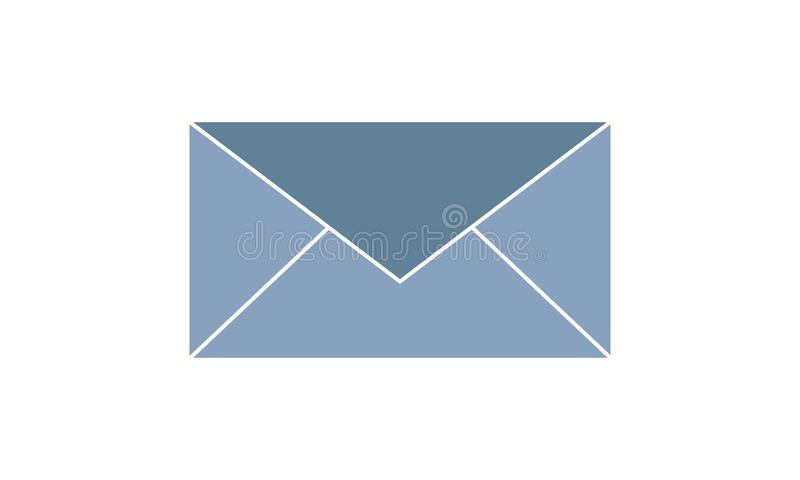Email icon. Envelope Mail services. Contacts message send letter isolated flat. E-mail  icon  vector illustration. Flat style graphical symbol. can be used for stock illustration