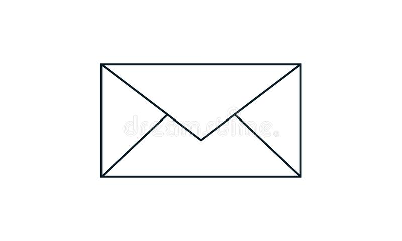 Email icon. Envelope Mail services. Contacts message send letter isolated flat. E-mail icon  vector illustration. Flat style graphical symbol. can be used for vector illustration