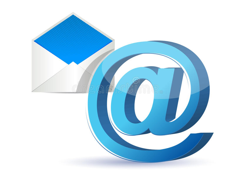 Email icon graphic royalty free illustration