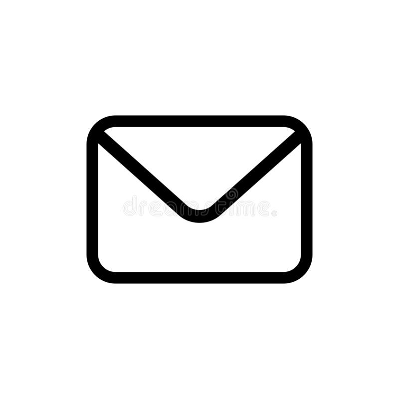 Email vector icon in flat style vector illustration