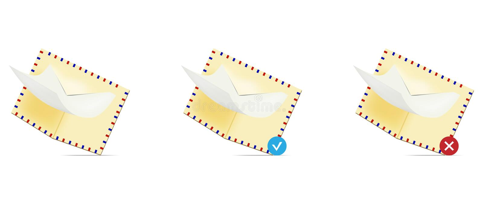 Download Email icon set stock illustration. Illustration of email - 12135768