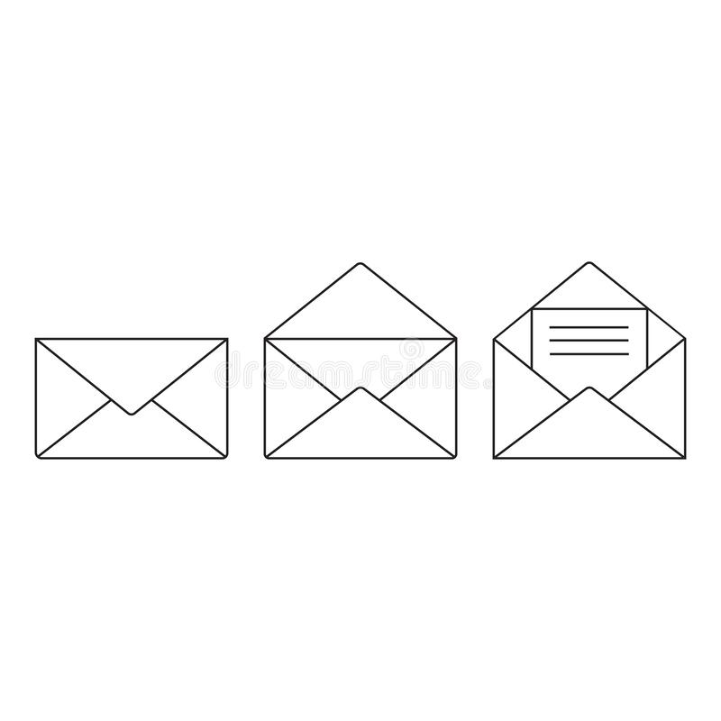 Email icon vector, Envelope sign, Mail symbol. Vector illustration. royalty free illustration
