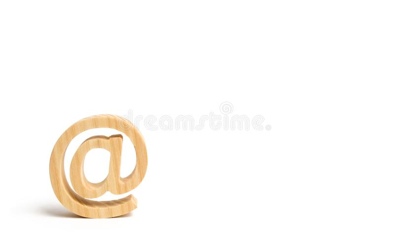 Email icon on white background. Internet correspondence, communication on the Internet. Contacts for business. Establishing contac royalty free stock photo