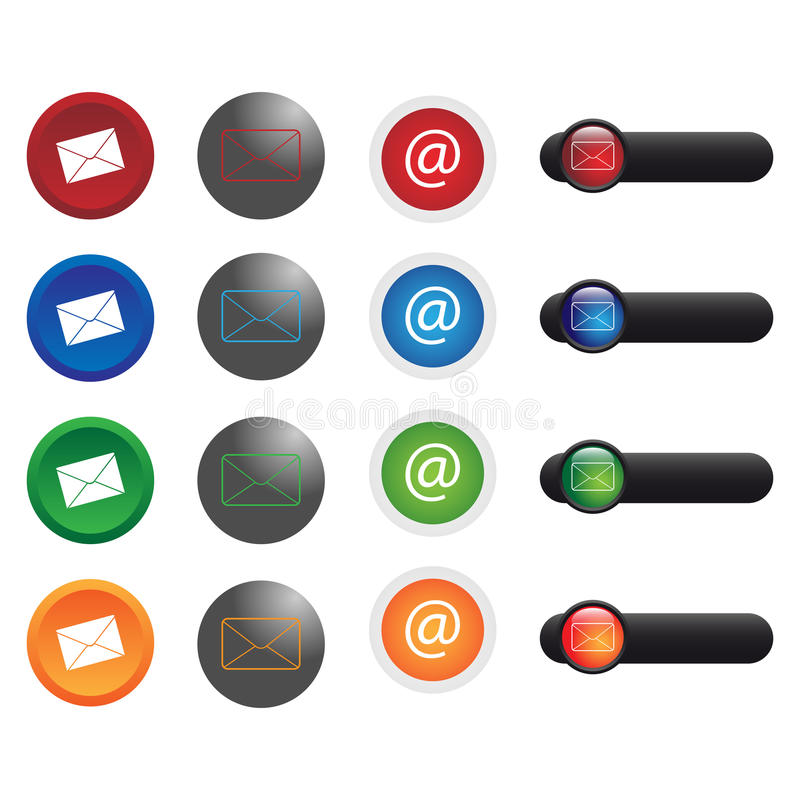 Download Email Icons Royalty Free Stock Photo - Image: 13783485
