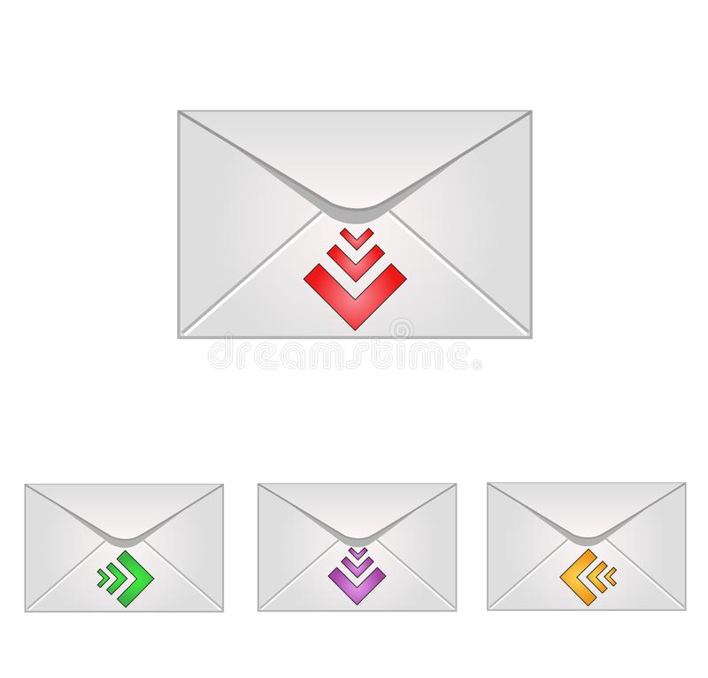 Download Email icons stock vector. Illustration of post, envelope - 8664099