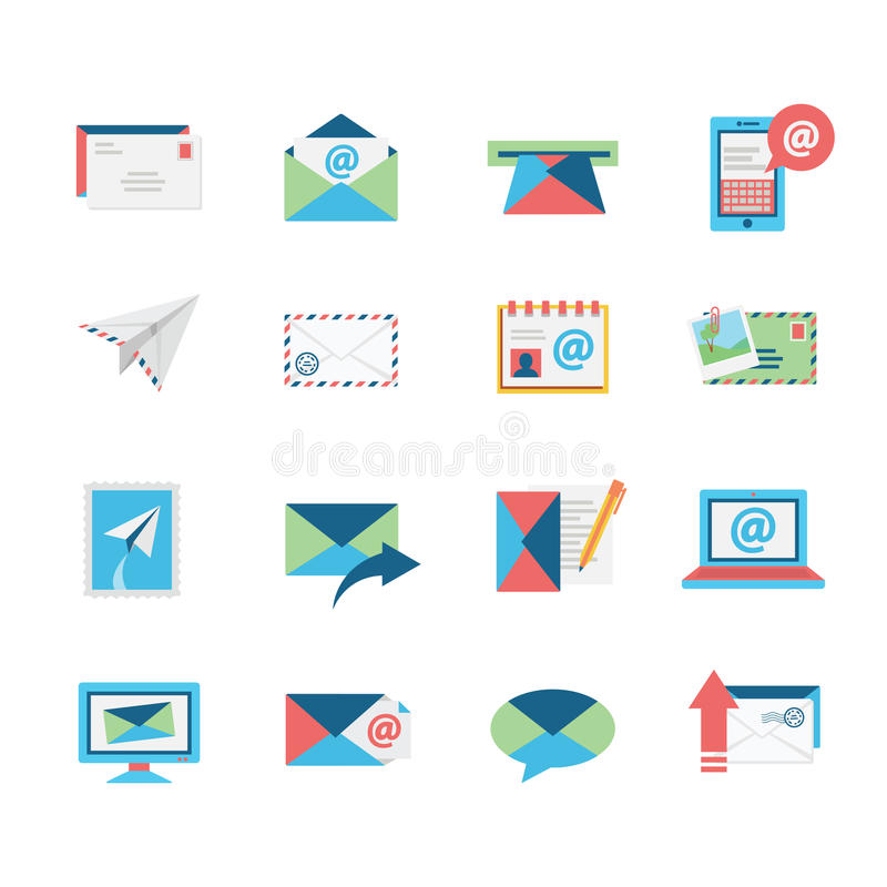 Email Icons stock illustration