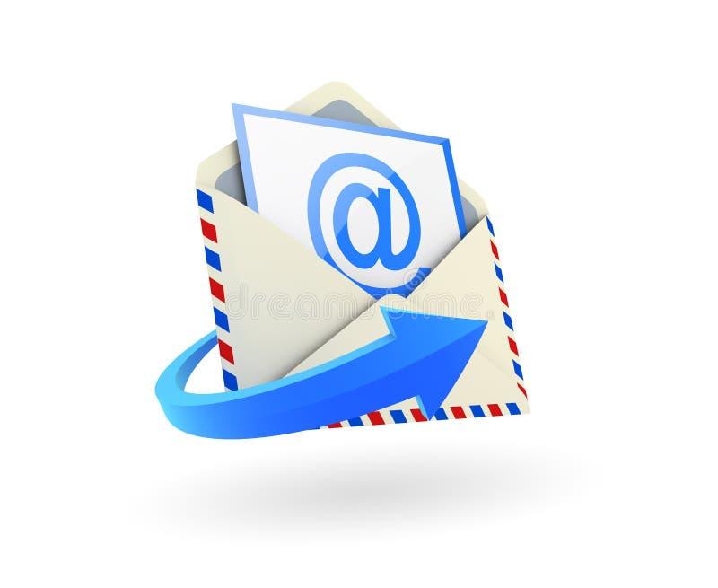 email ikona royalty ilustracja