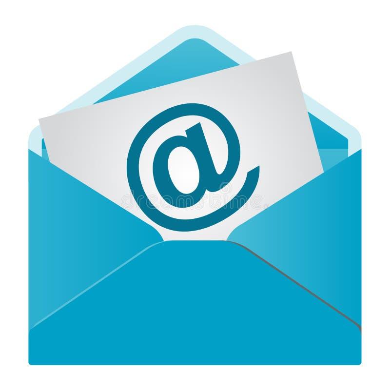 EMail-Ikone getrennt lizenzfreie abbildung