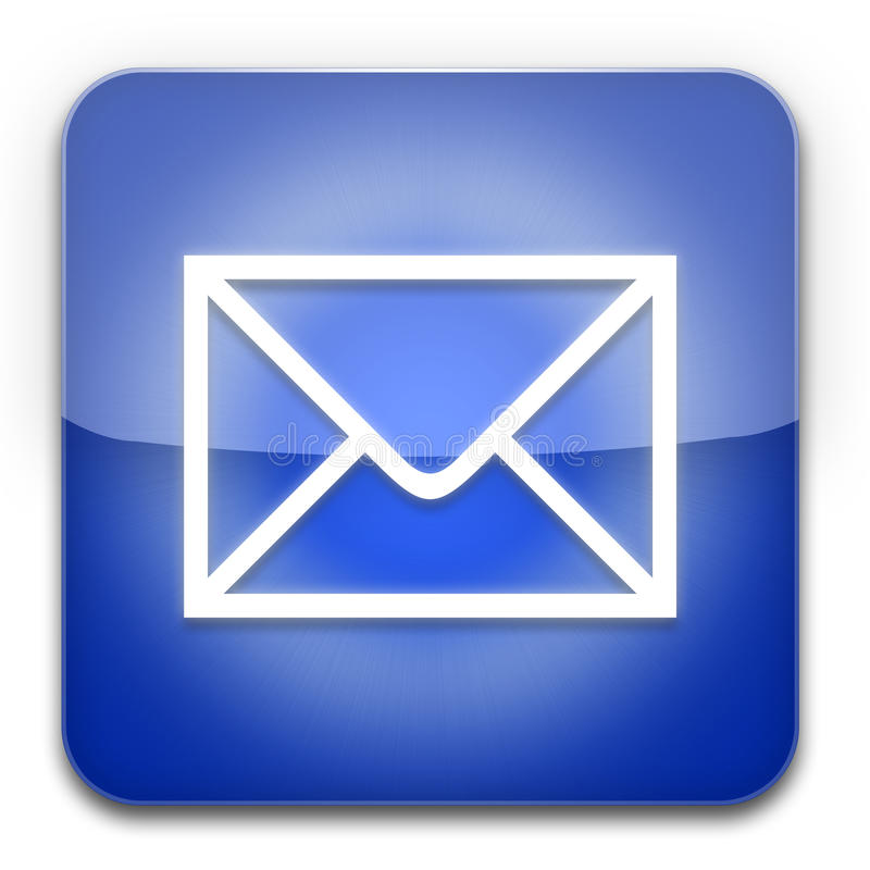 EMail-Ikonenblau stock abbildung