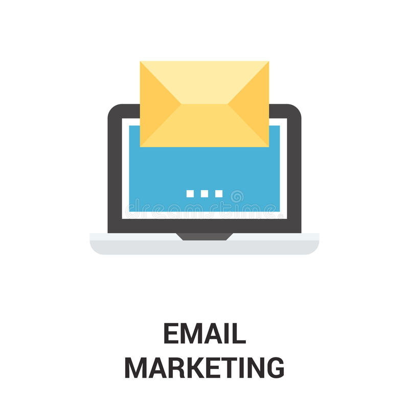 Email ikony marketingowy pojęcie ilustracja wektor