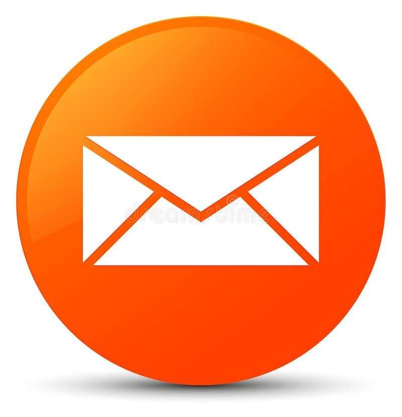 Email ikony pomarańczowy round guzik ilustracja wektor