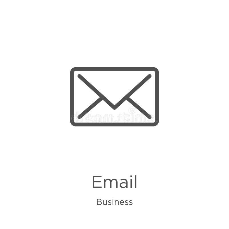 email ikony wektor od biznesowej kolekcji Cienka kreskowa emaila konturu ikony wektoru ilustracja Kontur, cienieje kreskow? email ilustracji