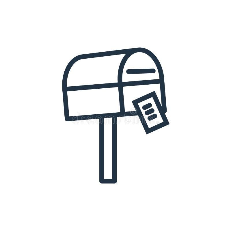 Email ikony wektor odizolowywający na białym tle, emaila znak ilustracja wektor