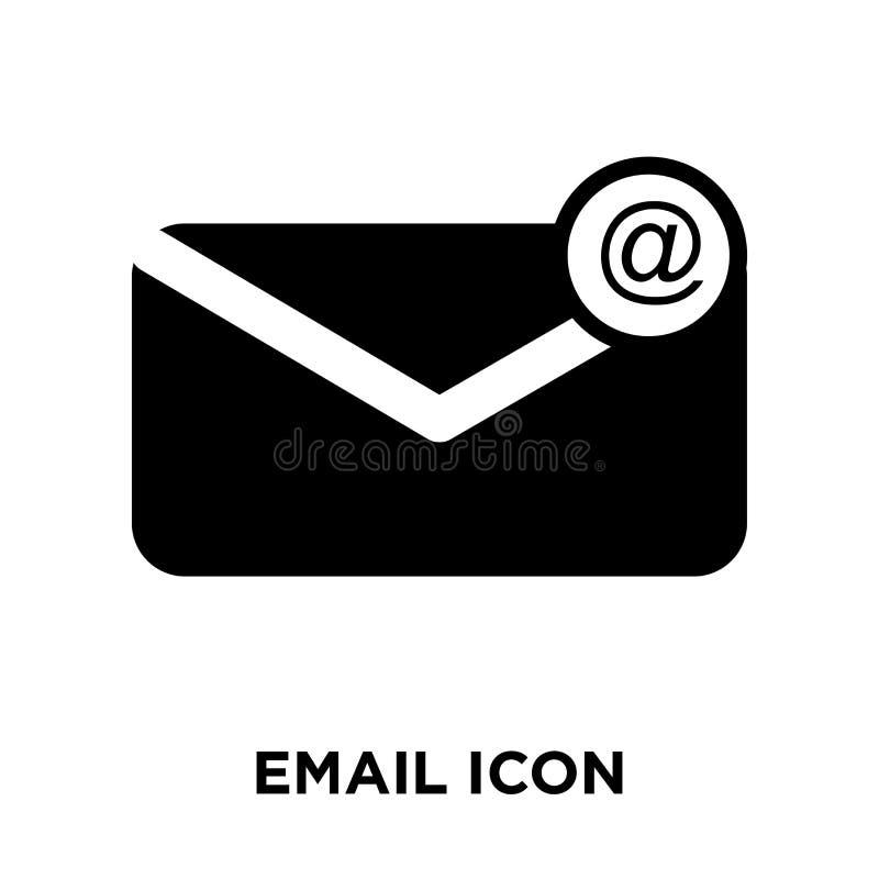 Email ikony wektor odizolowywający na białym tle, loga pojęcie ilustracja wektor