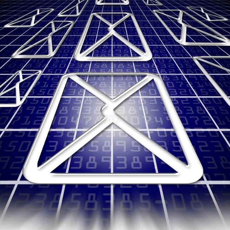 EMail im Cyberspace lizenzfreie abbildung