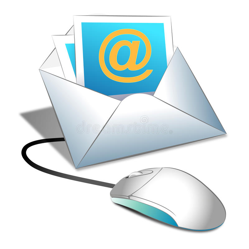 Email internet. People use internet for email instead of writing vector illustration