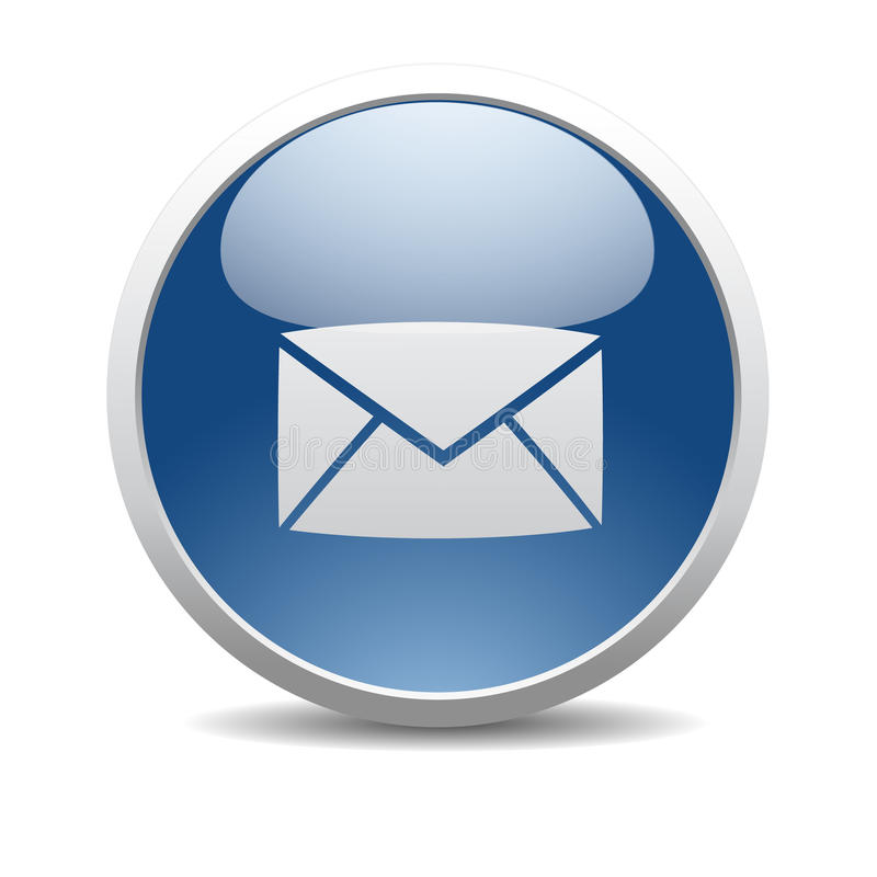 Email internet icon. Glossy Letter - Email internet icon