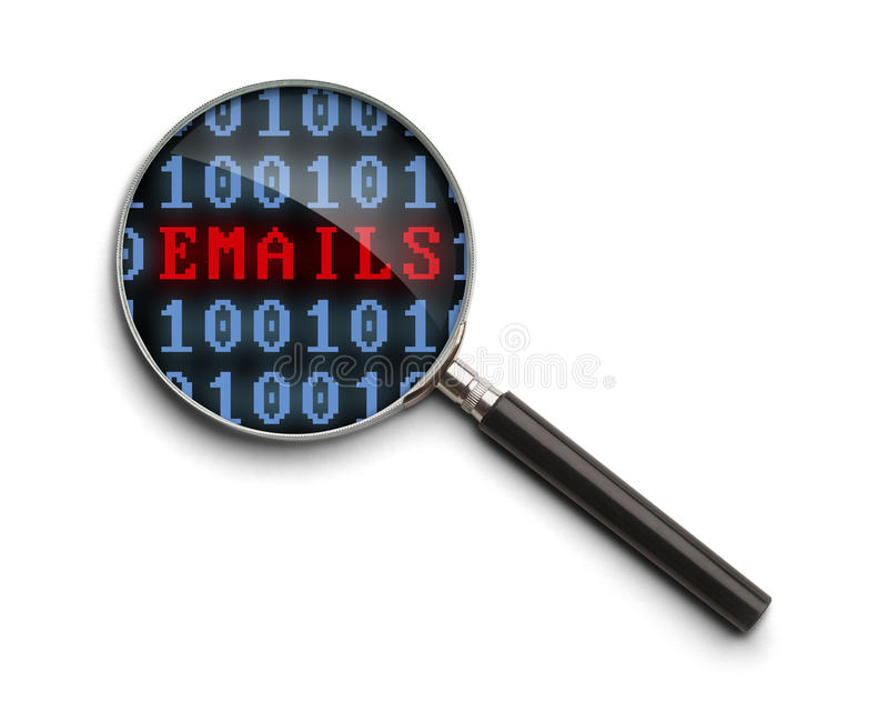 Email Investigation stock photo