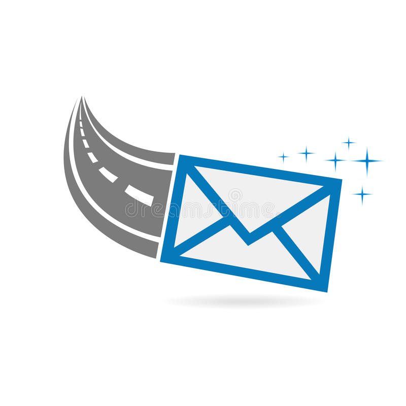 Email On its way Logo royalty free illustration