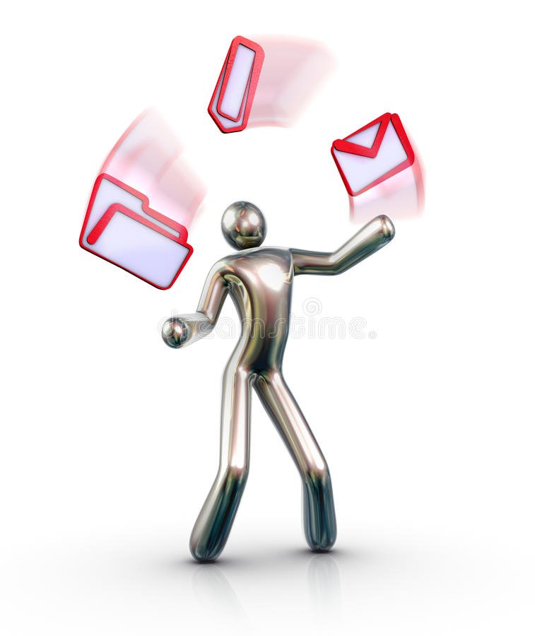 EMail Juggler stock illustration