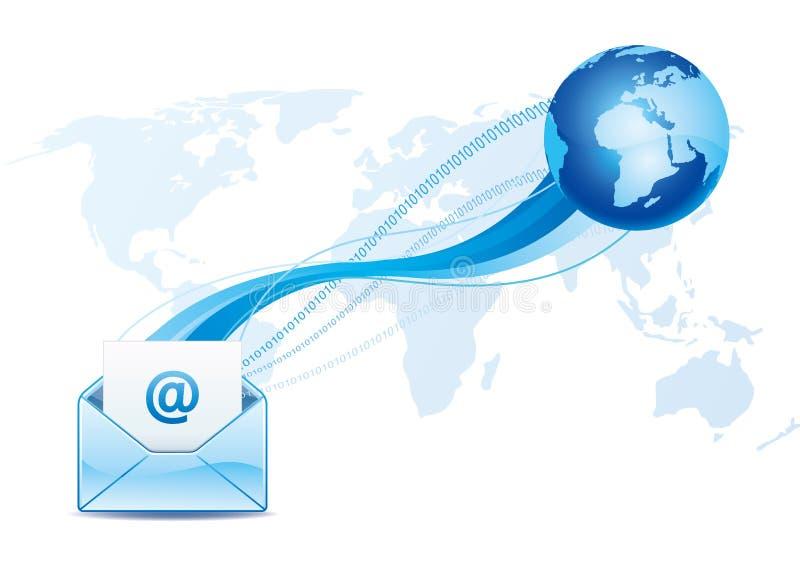eMail-Kommunikation stock abbildung