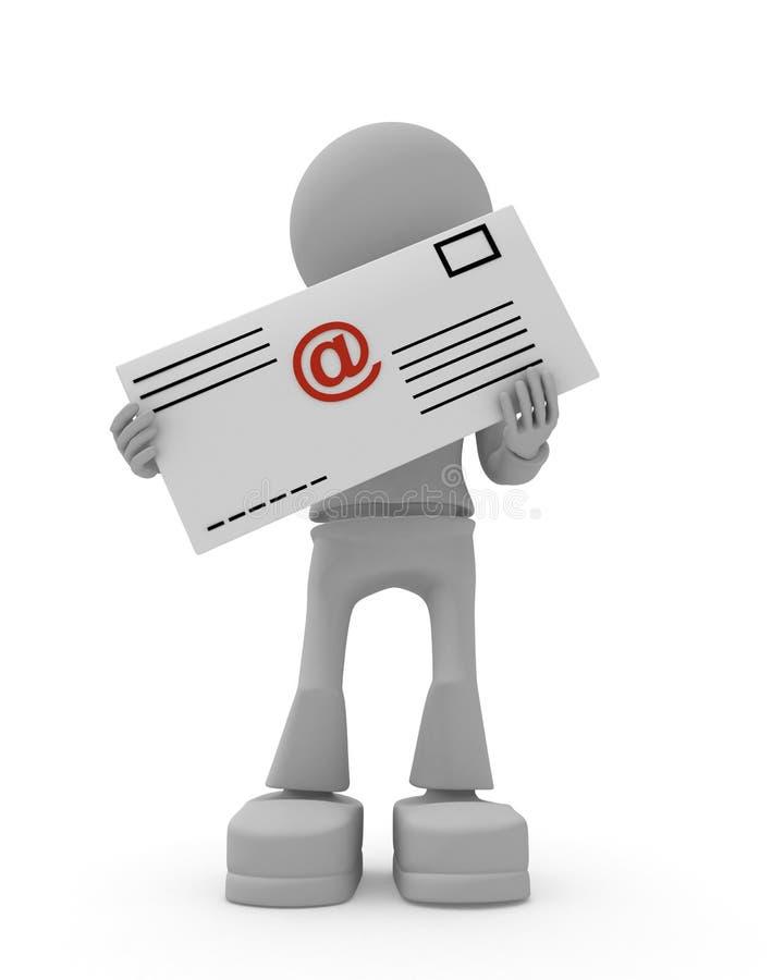 Download Email letter stock illustration. Image of render, carrying - 9224653
