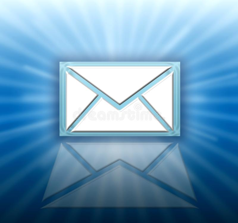 Email letter icon royalty free illustration