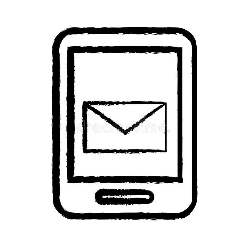 Email móvel do smartphone ilustração royalty free