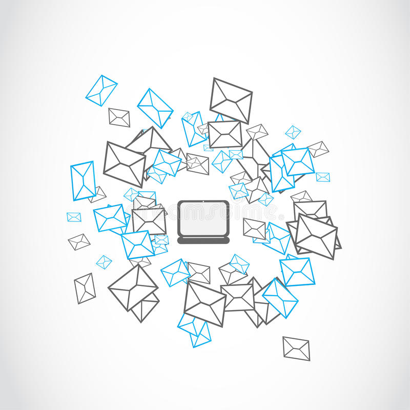 Email mailing concept. Abstract background royalty free illustration