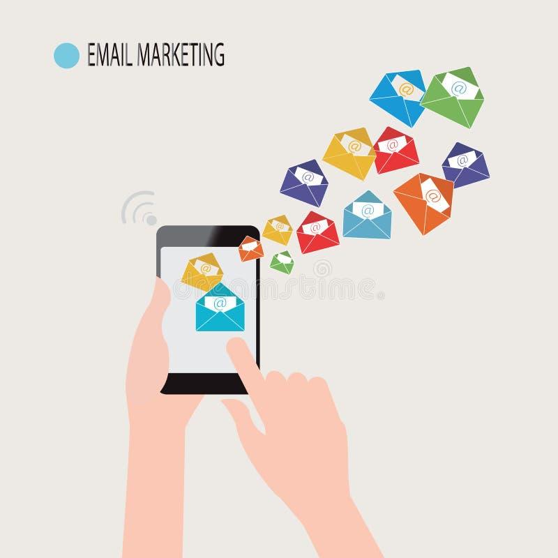 Email marketing. royalty free illustration
