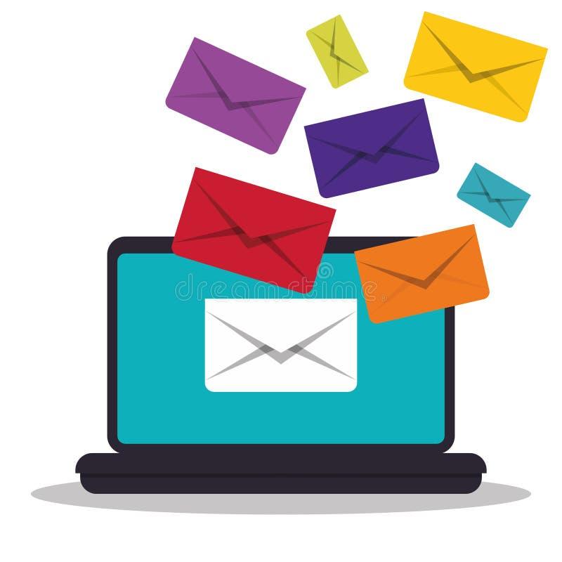 Email marketing design. stock illustration