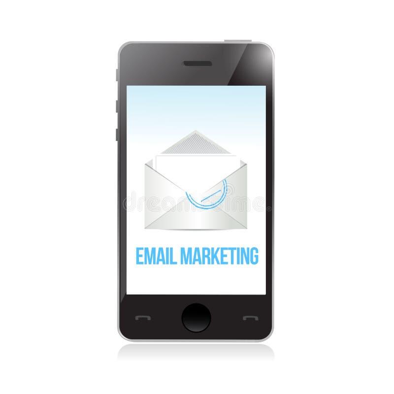 Email marketing phone. vector illustration
